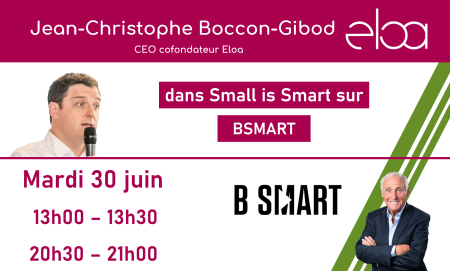 Jean-Christophe Boccon-Gibod sera l'invité de l'émission Small is Smart sur BSMART